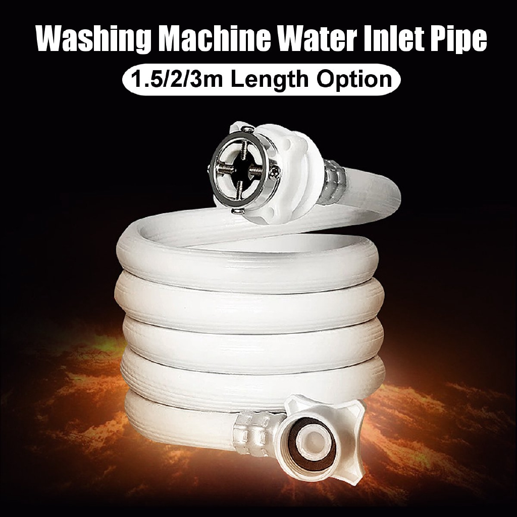 1.5/2/3m Washing Machine Fully Automatic Water Inlet Pipe Extension Tube Kits