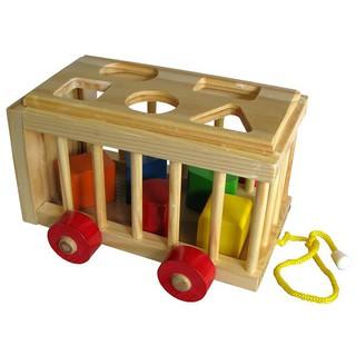 Đồ chơi gỗ – Xe Cũi Thả Hình ( hàng việt nam)