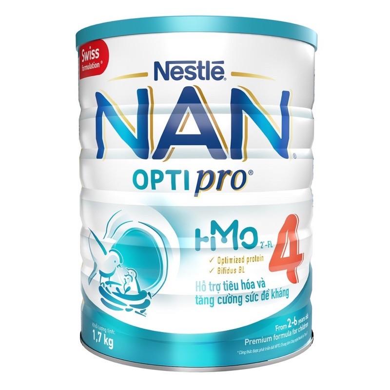 [Mã 267FMCGSALE giảm 8% đơn 500K] sữa bột nan 4(1,7kg) date mới mẫu mới