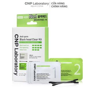 Bộ mặt nạ làm sạch mụn đầu đen 2 trong 1 CNP Laboratory Anti-Pore Black Head Clear Kit