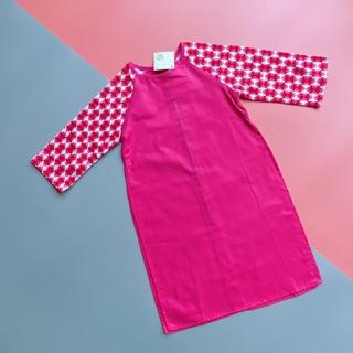 Áo dài cotton organic cho bé KIFI KF39