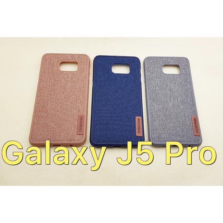 Ốp lưng vải viền dẻo cho Samsung Galaxy J5 Pro