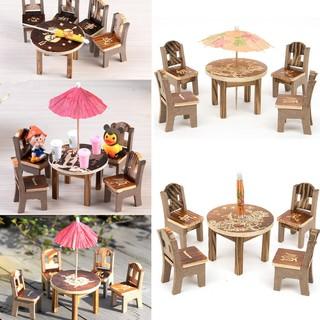 Bộ bàn ghế mini cho nhà búp bê thumbnail