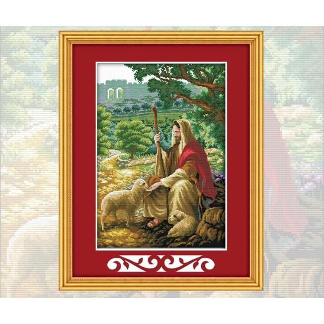 Chúa Bên Đàn Cừu (Vải In Sẵn 100%)