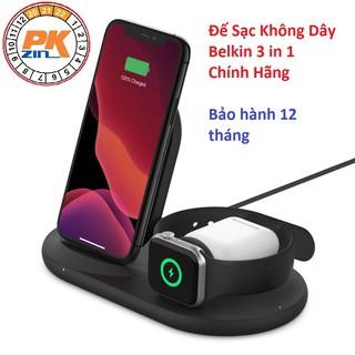 Bộ Đế Sạc Không Dây BELKIN Chính Hãng 3 TRONG 1 Cho Các Thiết Bị APPLE Iphone, Apple Watch, Airpods, Bảo Hành 12 Tháng thumbnail