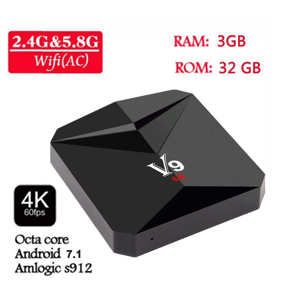 V9 Box High Definition Network Player S912 3GB 32G TV Box H96 Pro Plus
