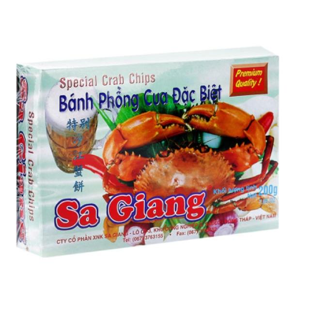 Bánh phồng cua đặc biệt Sa Giang hộp 200g