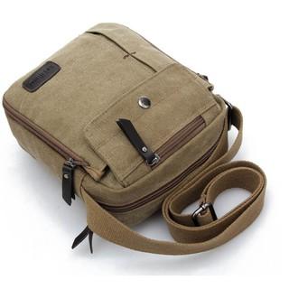 Túi đeo chéo nam vải bố tiện dụng, thiết kế thời trang 2018