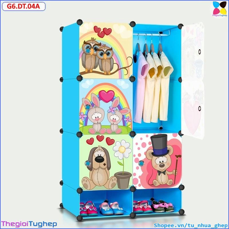 Tủ nhựa ghép 6 ô và 2 ô giầy (size to 47cm, thân xanh dương cánh thú nhím ) - 2789276 , 859333523 , 322_859333523 , 600000 , Tu-nhua-ghep-6-o-va-2-o-giay-size-to-47cm-than-xanh-duong-canh-thu-nhim--322_859333523 , shopee.vn , Tủ nhựa ghép 6 ô và 2 ô giầy (size to 47cm, thân xanh dương cánh thú nhím )