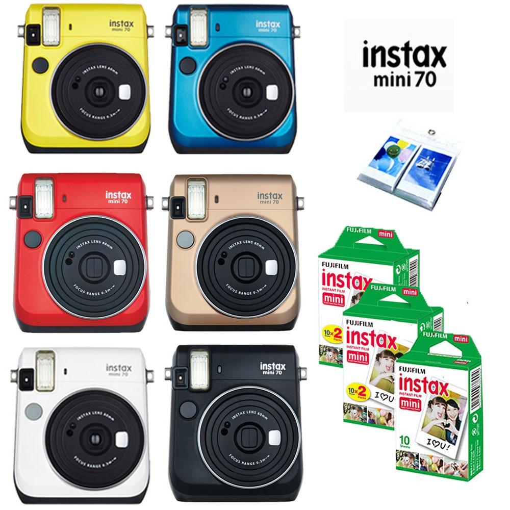 Máy ảnh Fujifilm Instax Mini 70 các màu + 2 packs Film Instax mini