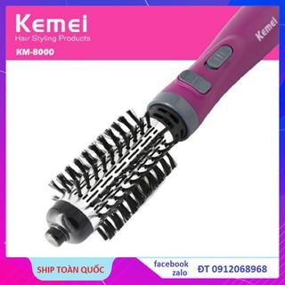 Lược Điện Kemei KM 8000 Lược Điện Xoay 360 Sấy Tóc Sấy Cụp Cao Cấp Đa Năng - uốn - duỗi - làm xoăn thumbnail