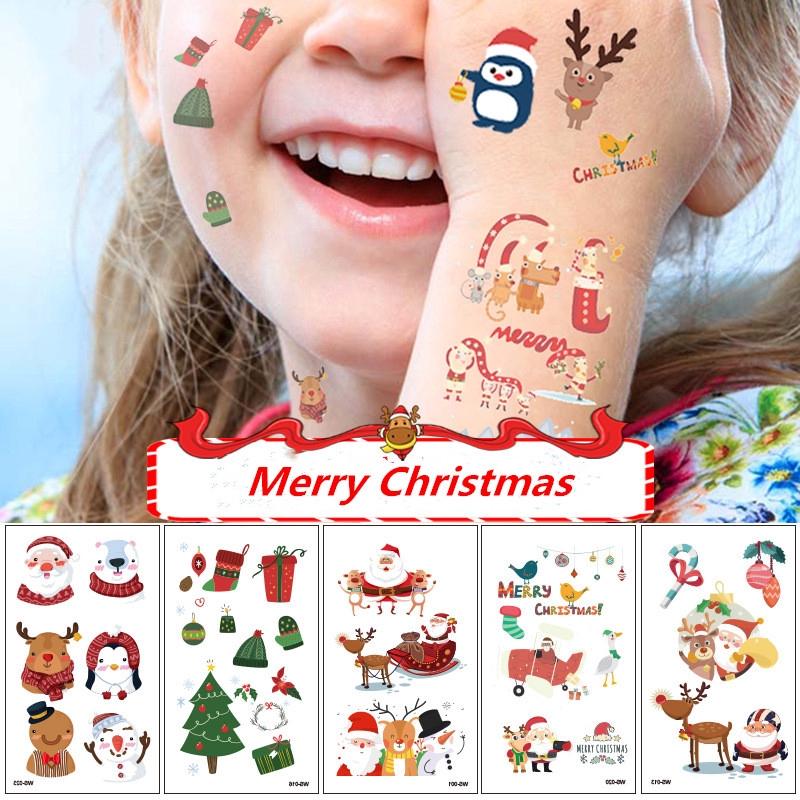 Hình Xăm Dán Chủ Đề Giáng Sinh Chống Nước