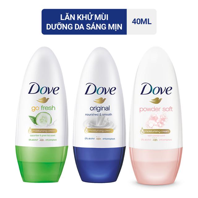 Lăn khử mùi Dove dưỡng da trắng mịn 40ml