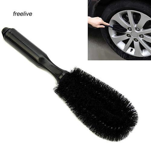 FLE_Car Vehicle Motorcycle Wheel Hub Tire Rim Scrub Brush Washing Cleaning Tool Cleaner