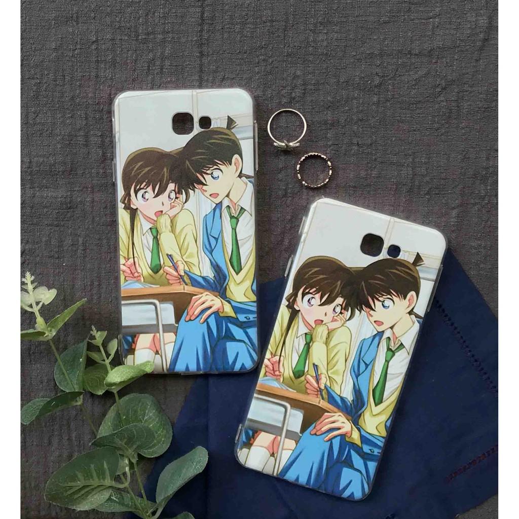 Ốp lưng Shinichi và Ran Conan Anime Mange in cho iPhone/Samsung/Oppo/Xiaomi/LG/HTC