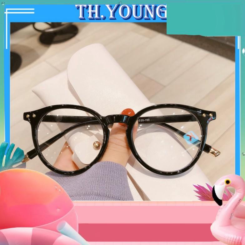{ẢNH THẬT} Gọng kính cận mắt tròn thời trang T3375 - Kính mắt đang hot