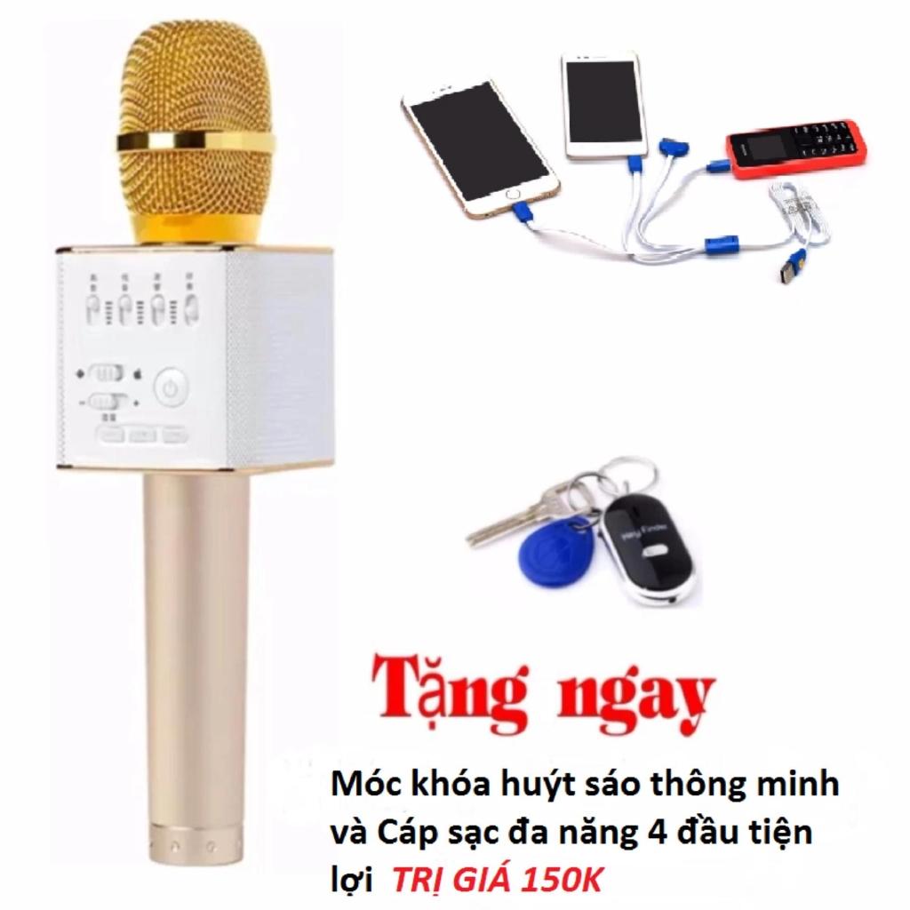 Micro hát Karaoke Q9 kèm loa Bluetooth + Móc khóa thông minh + Cáp sạc 4 đầu -michatq9 - 2678117 , 1318443320 , 322_1318443320 , 278500 , Micro-hat-Karaoke-Q9-kem-loa-Bluetooth-Moc-khoa-thong-minh-Cap-sac-4-dau-michatq9-322_1318443320 , shopee.vn , Micro hát Karaoke Q9 kèm loa Bluetooth + Móc khóa thông minh + Cáp sạc 4 đầu -michatq9