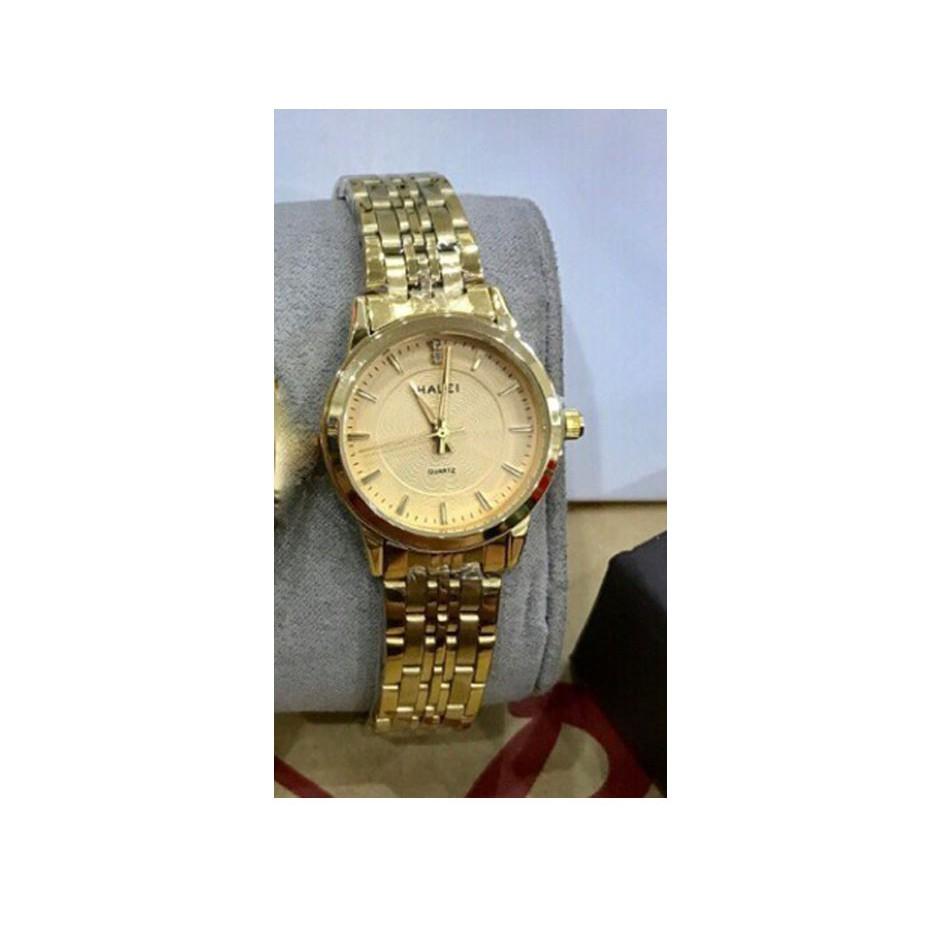 Đồng hồ nữ halei màu vàng cực chất (có size nam)