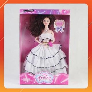 Búp bê công chúa váy trắng đáng yêu BB111118 LOẠI TỐT