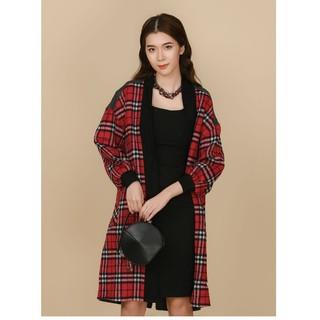 Áo khoác măng tô dạ kẻ lông cừu Elise thumbnail