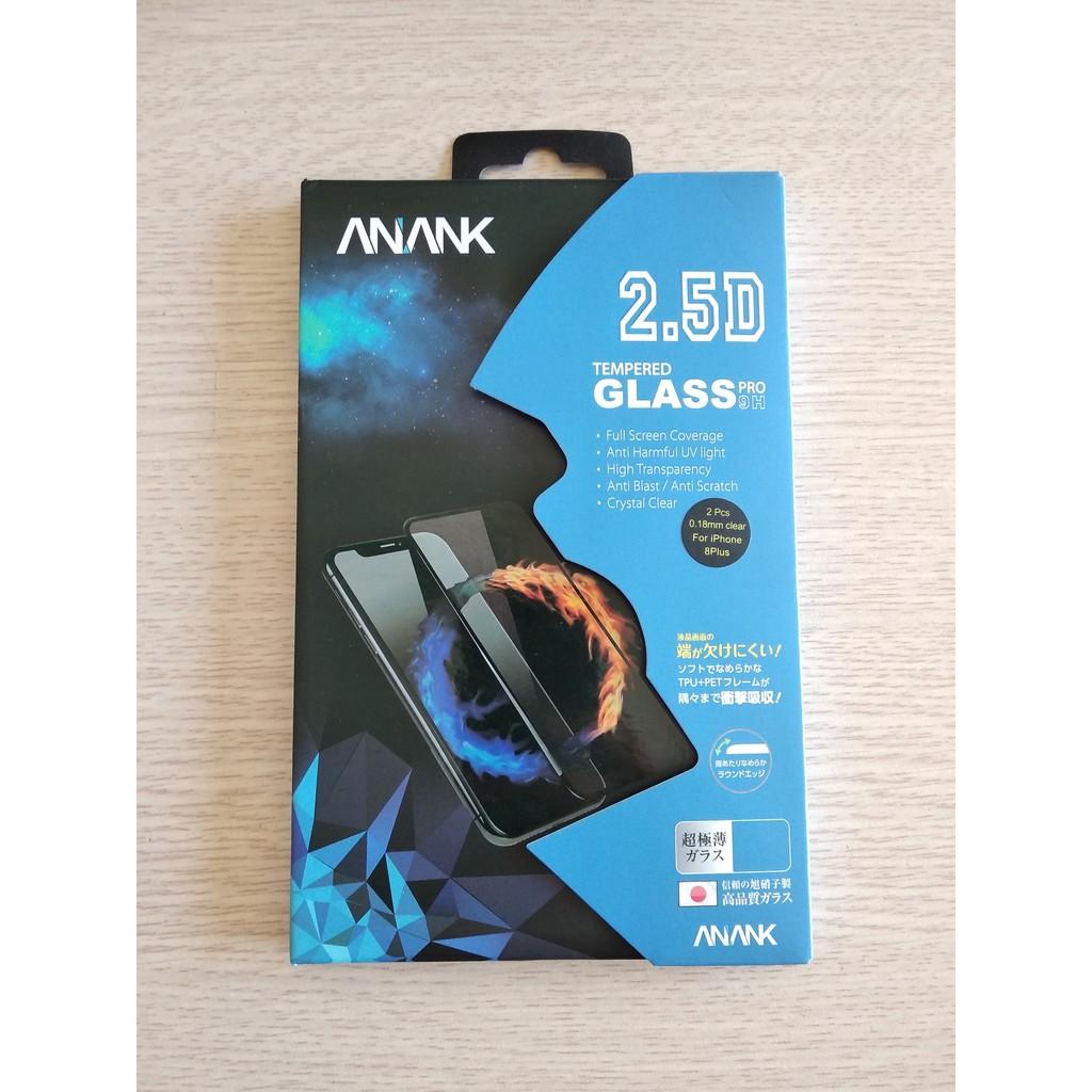 Kính cường lực trong suốt cho iPhone 8 Plus - hiệu ANANK ( 2 kính )