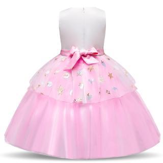 Đầm bé gái in hình kì lân
