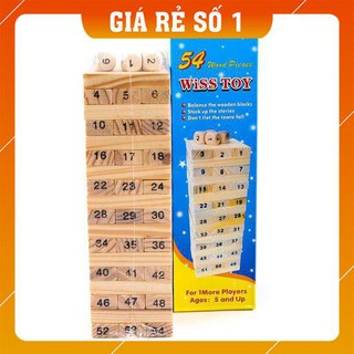 [HÀNG CHÍNH HÃNG] Trò chơi Rút gỗ Wiss Toy gồm 54 thanh gỗ – Giúp bé luyện tư duy và sự khéo léo