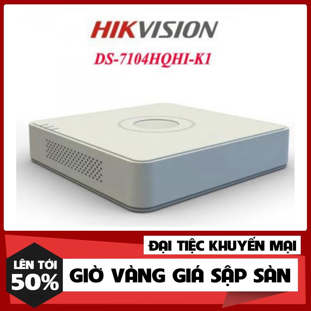 🍀 Đầu ghi hình 4 kênh Turbo HD 4.0 Hikvision DS-7104HQHI-K1 - Hàng chính hãng 100%.