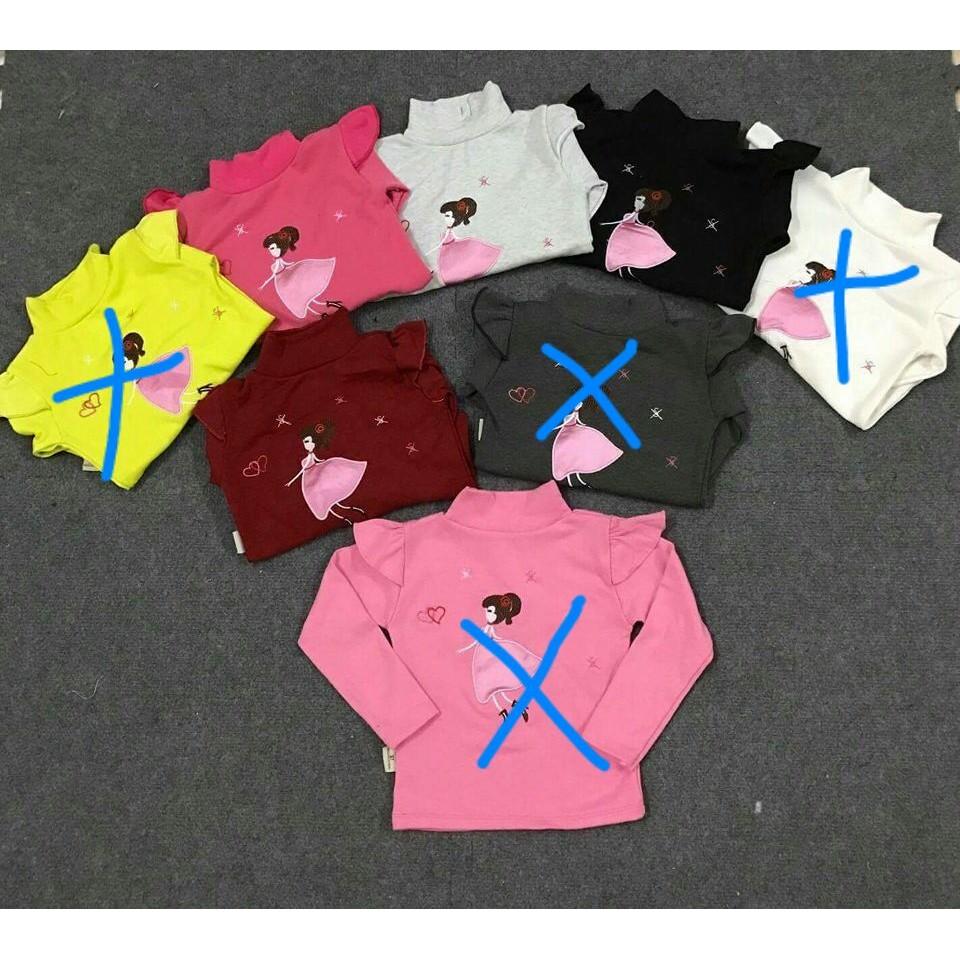 áo cổ 3 phân cô gái