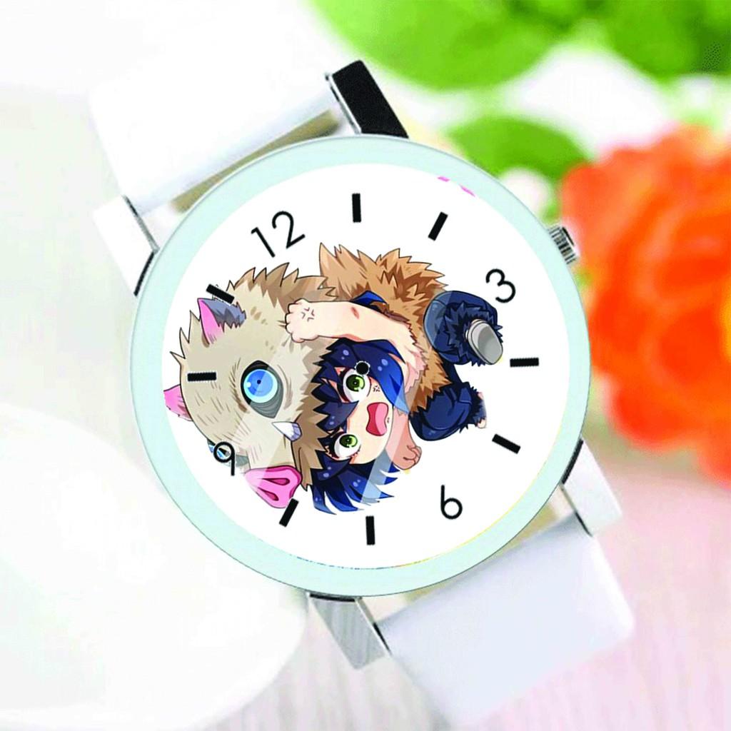 Đồng hồ đeo tay nam nữ in hình KIMETSU NO YAIBA Thanh Gươm Diệt Quỷ ver TREO anime chibi thời trang dễ thương độc đáo