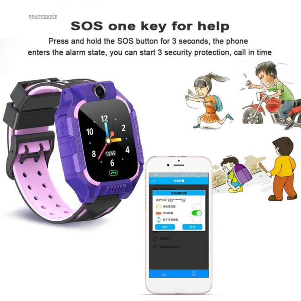 SOS Đồng Hồ Thông Minh Z6 Chống Nước Có Định Vị Gps Chống Lạc Cho Trẻ Em