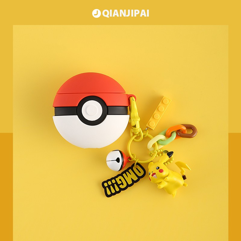 ┋℡Pokemon Pikachu airpods case 2 turtles iPhone apple wireless bluetooth headset series, Johnny box casing 1 second g