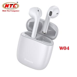 Tai nghe không dây True Wireless Baseus W04 Encok Earphones (TWS, Earbuds Mini, Model 2020) - Hàng chính hãng