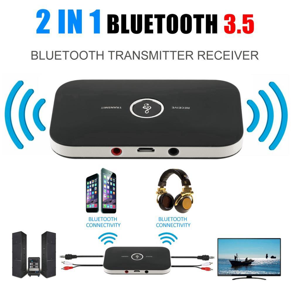 Thiết bị nhận tín hiệu âm thanh bluetooth 5.0 RCA giắc cắm 3.5mm dành cho xe hơi/ tai nghe/ máy tính