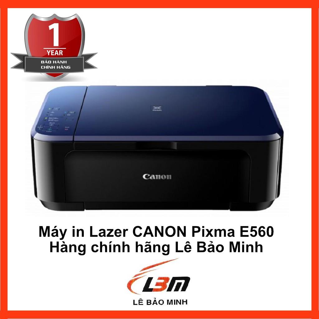 [Mã ELCL3MIL giảm 5% đơn 3TR] MÁY IN PHUN ĐA NĂNG Canon Pixma E560 - ( In Scan Copy + Wifi)