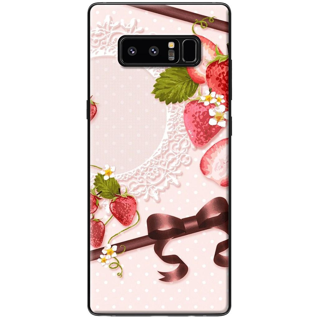 Ốp lưng Samsung Note 8 - Nhựa dẻo Bánh kem dâu