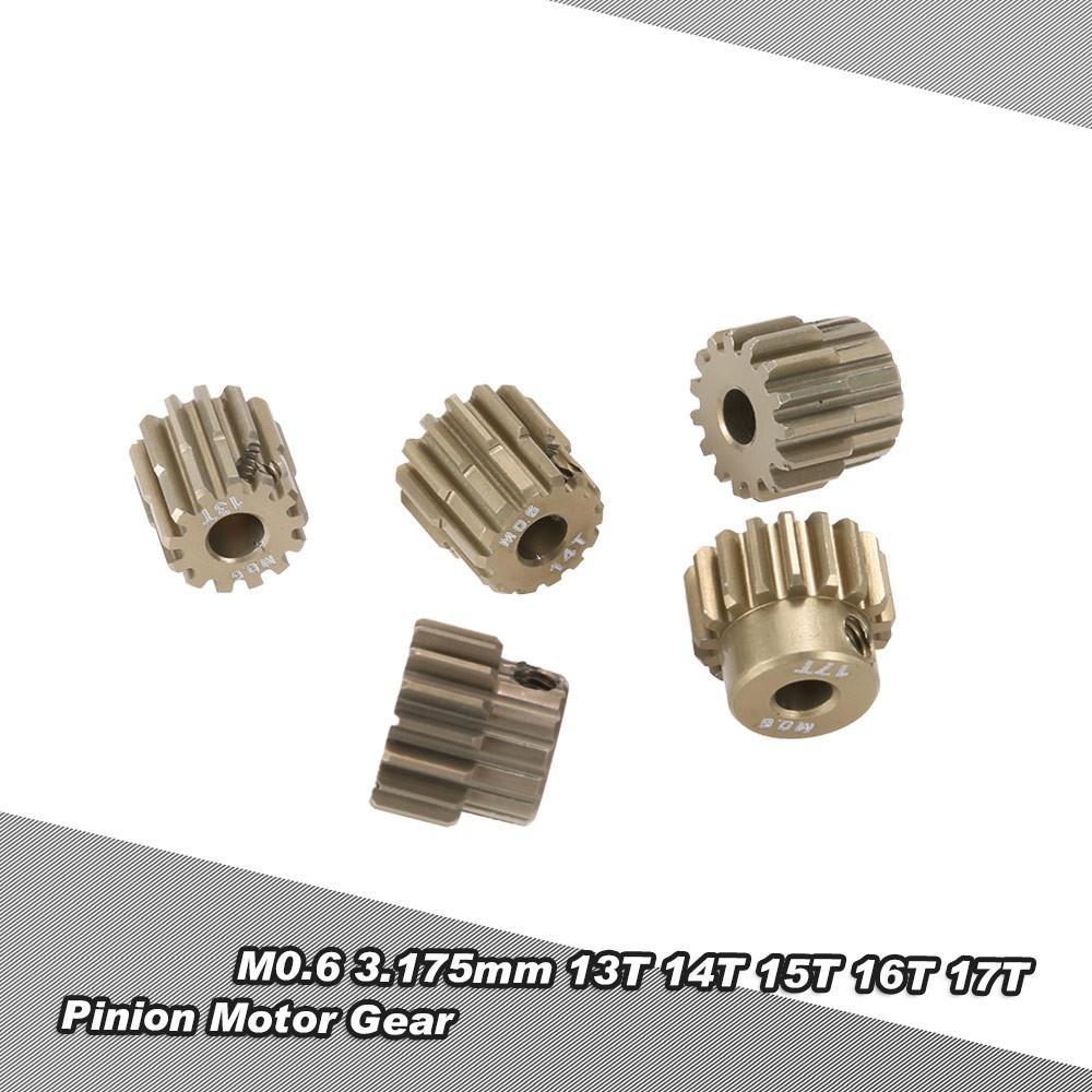 Set bánh răng chính goolrc m0.6 3.175mm 13T 14t 15t 16T 17t 0.6 chuyên dụng