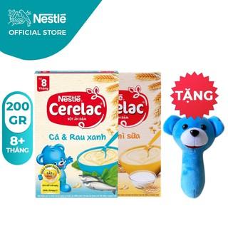 [Tặng Lục Lạc Gấu Cầm Tay] Combo 2 Hộp Bột Ăn Dặm Nestlé Cerelac Cá Rau Xanh Và Lúa Mì 200g Hộp thumbnail