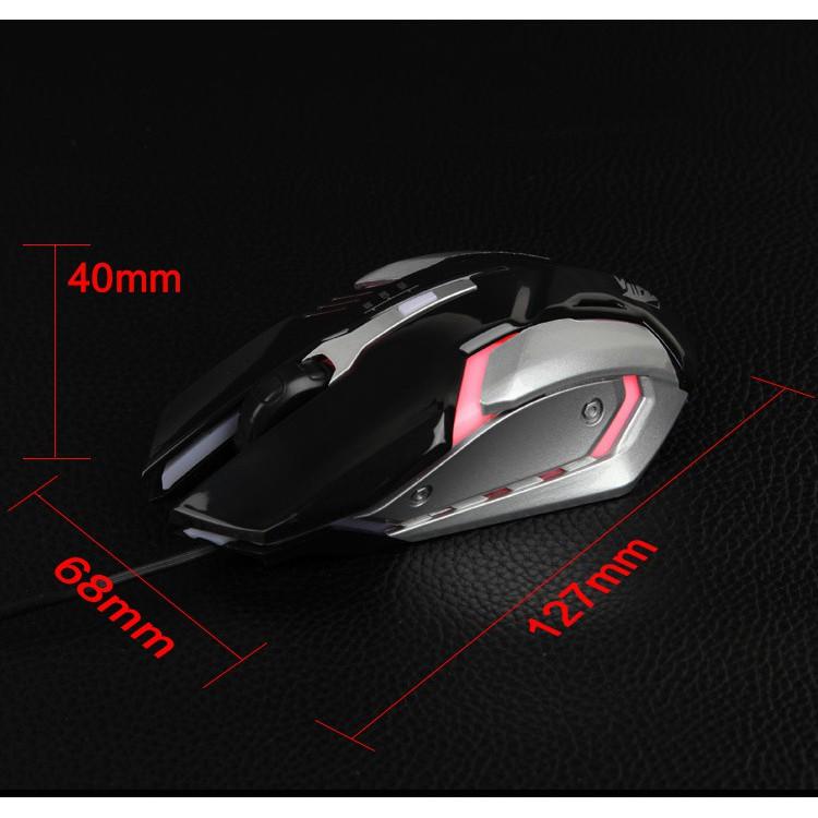 Chuột chơi game D5 LED đổi màu(đen)