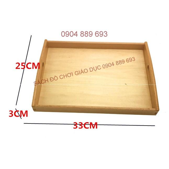 Khay đựng đồ Montessori cỡ trung, kích thước 32.5x25x3cm - 2631580 , 639495425 , 322_639495425 , 210000 , Khay-dung-do-Montessori-co-trung-kich-thuoc-32.5x25x3cm-322_639495425 , shopee.vn , Khay đựng đồ Montessori cỡ trung, kích thước 32.5x25x3cm