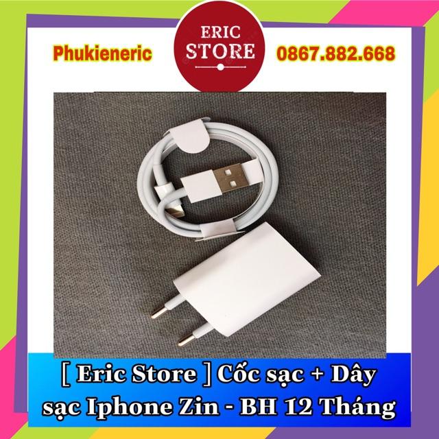 [ CHÍNH HÃNG ] CỐC SẠC + CÁP SẠC IPHONE ZIN - BẢO HÀNH 12 THÁNG (