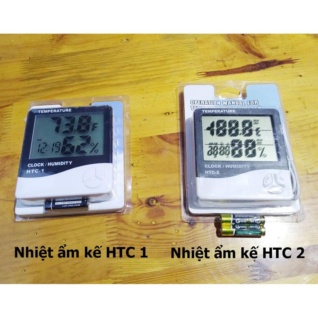 Máy đo nhiệt độ, độ ẩm phòng HTC 1, HTC 2. Đồng hồ để bàn nhiệt ẩm kế