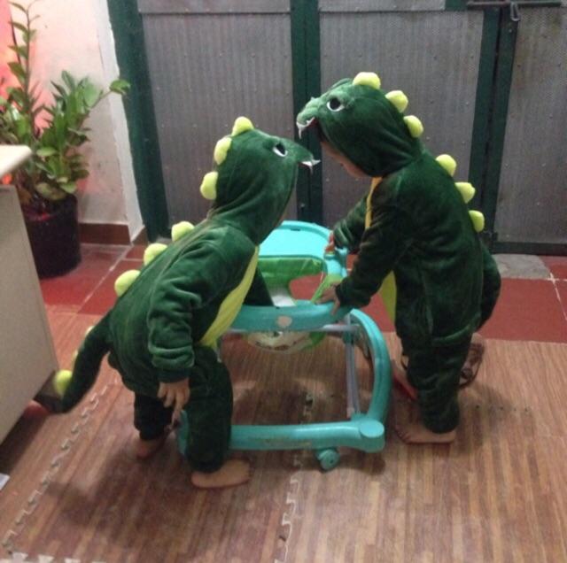 Bộ Đồ Thú Khủng Long Xanh ❤️ FREESHIP ❤️ Bộ đồ hình thú đồ ngủ khủng long Xanh Trẻ Em