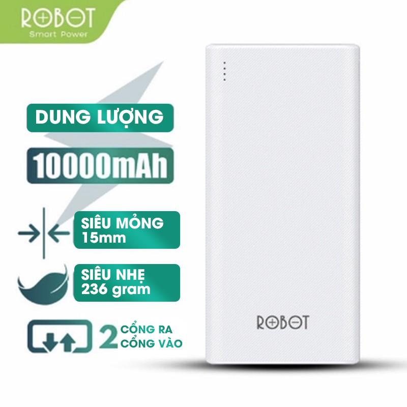 Pin Sạc Dự Phòng 10.000 mA ROBOT RT170 - 2 Cổng Output & 2 Cổng Input - BẢO HÀNH 1 ĐỔI 1