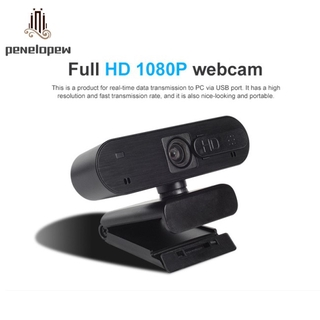 pw HD 1080P Webcam Built-in Microphone Auto Focus Web Camera with Lid