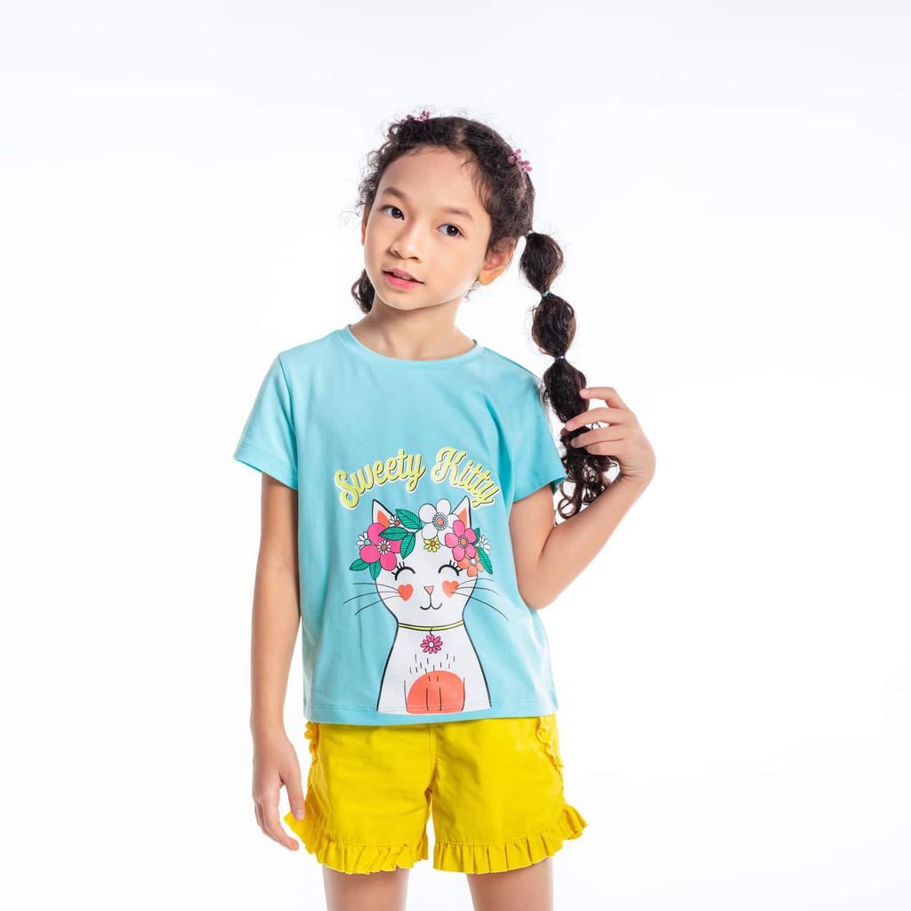 Áo bé gái-Sweet Flower Kitty M.D.K