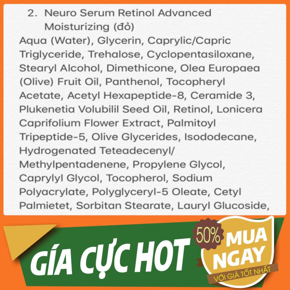 HOT HOT Serum Bielenda Retinol Neuro/ Mezo Skin Clinic trẻ hoá, làm da căng bóng, mờ thâm sẹo HOT HOT