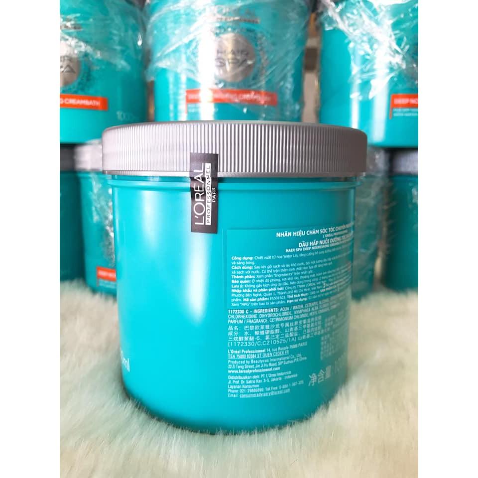 (1000ml) Kem hấp, ủ tóc Loreal Hair Spa Creambath Nourishing salon chuyên nghiệp