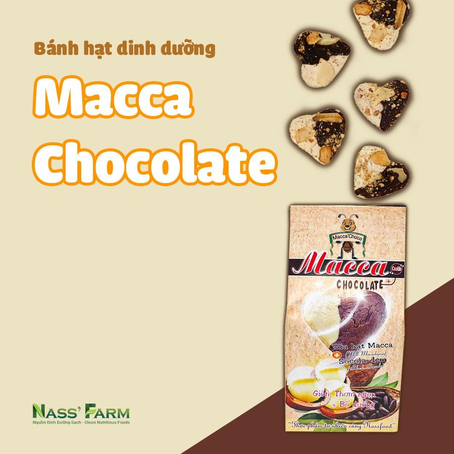 [BÁNH TRÁI TIM] Bánh quy dinh dưỡng giàu chất xơ hạt Mắc ca kết hợp Chocolate -  Hộp 12 bánh/45Gram