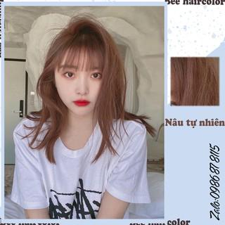 thuốc nhuộm tóc màu NÂU TỰ NHIÊN . thuốc  nhuộm tóc  tại nhà